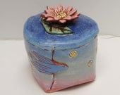 Reserved for Nina (ceramic flower jar; ceramics and pottery flower jar; ceramic art; hand built pottery)