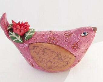 ceramic bird; ceramic art