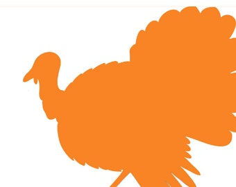 Disposable Orange Turkey Silhouette Placemats - Set of 12
