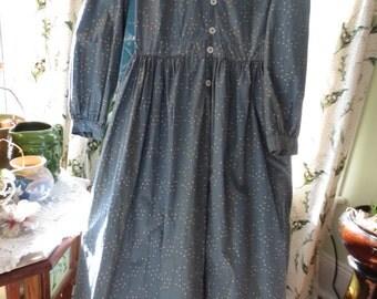 Country Print Indigo Blue CALICO PRAIRIE DRESS