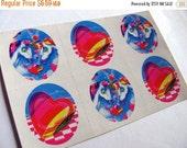 ON SALE Vintage Lisa Frank Unicorn and Heart Sticker Sheet - 80's Unicorns in Love Art Artist Illustration Scrapbook