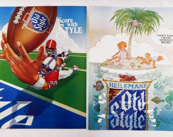 Vintage 1982 Heileman's Old Style Beer Two Poster Set