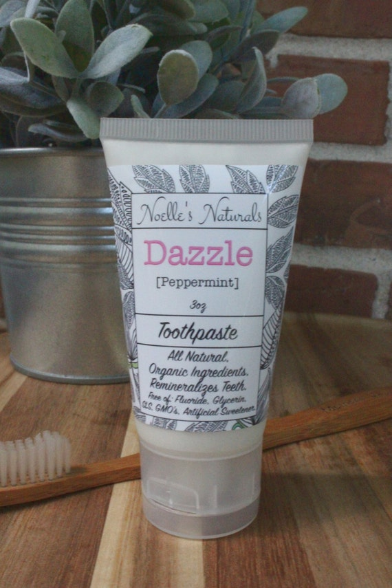 Remineralizing Toothpaste - 3oz - Fluoride free - All Natural - No Harmful Chemicals - SLS free - Peppermint - Vegan