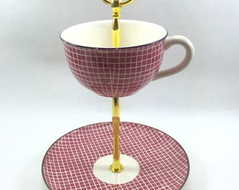 Brick House Tea Cup Stand Tidbit Tray