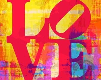 Love Love Love Philadelphia | Love Park Inspired Colorful City Decor | Product Options and Pricing via Dropdown Menu