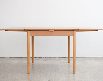 Mid Century Modern Danish Dining Table with Leaves