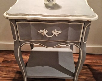 Shabby Chic Blue Grey Night stand / Side table