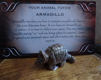 Hand Carved *ARMADILLO* Animal Spirit Totem for Spiritual Jewelry or Crafts