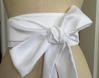 Made to order obi sash belt, bridal satin obi sash, Wedding obi sash belt, bridemaids obi belt sash, custom made obi waist cincher, red obi