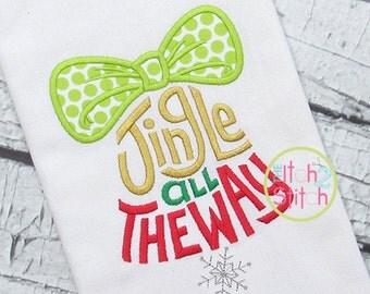 Jingle all the Way - Christmas Shirt - Girl's or Boy's Holiday Shirt Design - Christmas Shirt Designs