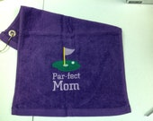Personalized towel, golf towel, bowling, Mothers Day, birthday, golf gift ,golf towels, personalized embroidery, purple towel