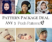 Knitting Patterns - Crochet Patterns - Discount Design Package - Choose ANY 3 - Crochet Patterns Women - Knitting Patterns Babies