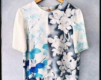 silk tee top, made with vintage kimonos