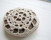 Little Crochet Stone, Ecru, Small Gift