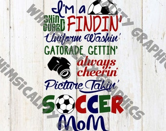 Soccer Mom with SVG, DXF, PNG Commercial & Personal Use