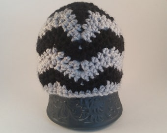 Black Chevron Baby Beanie Hat