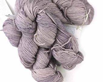 Malabrigo Rios yarn, color Pearl, light gray, #036, superwash knitting yarn worsted weight