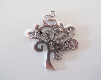 39mm*39mm. 2CT. Antique Silver Toned Tree Pendants/Charms, (Y26)