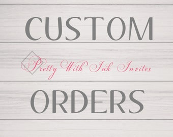 CUSTOM ORDERS - Design Deposit