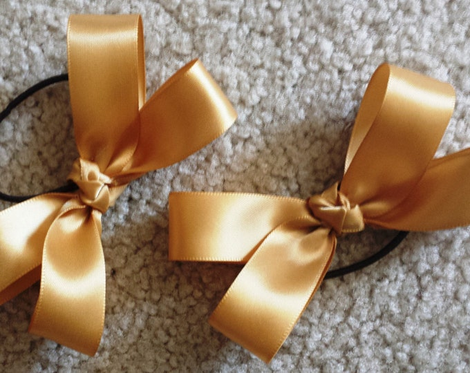 Satin Tap Shoe Bow Pair made from specified ribbon choice