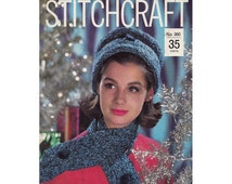 Vintage 1960s Stitchcraft Periodical Number 360 December 1963 Knit, Crochet, Rug, Needlepoint, Embroidery Christmas Gifts Vintage Magazine