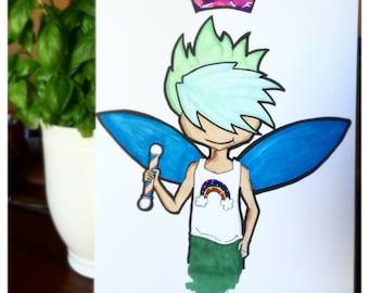 Pride Fairy - non-gendered copic Art Marker