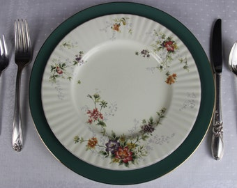 Mismatched Dishes with Mismatched Silverware. Vintage Cottage Style China