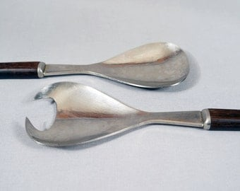 Lundtofte Danish Modern, Salad Spoon and Fork