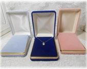 Velvet Gold Trim Pendant Presentation Case/Box