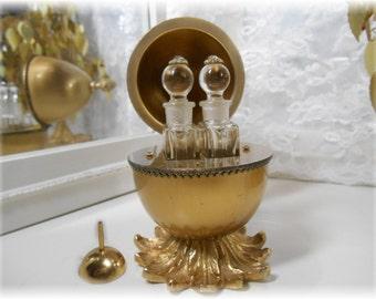 Evans Gold Enamel Imperial Egg Perfume Bottles Rare