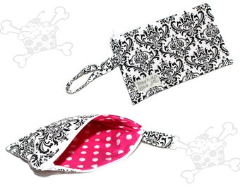 Black and White Damask Clutch