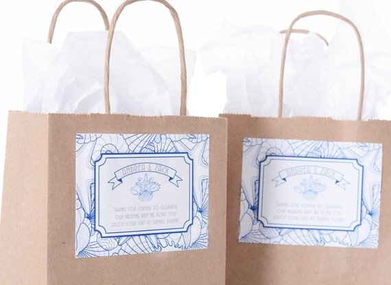 Beach Wedding Gift Bags For Guests : Beach Wedding Guest Bags25 Out of Town Welcome BagsHotel Wedding ...