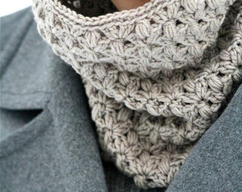 "PDF PATTERN Crochet Cowl ""Heather"""