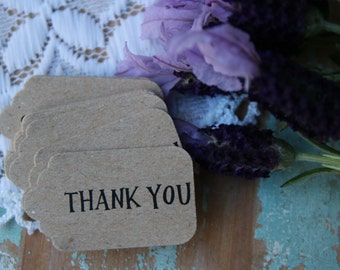 30 Kraft Thank You Gift Tags ~ Favour Tags ~ Succulent Favour Tags ~ Weddings