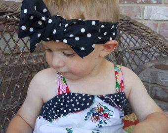 Polka-dot Headwrap: Infant-Adult