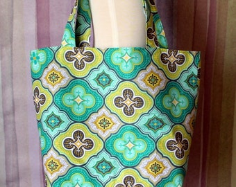 Floral themed Tote Bag Reusable Grocery Bag