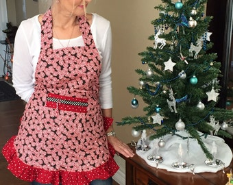 Pretty Peppermints Christmas Apron