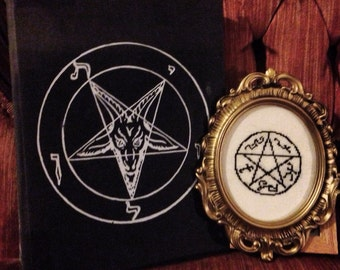 Supernatural inspired Devil's Trap completed cross-stitch