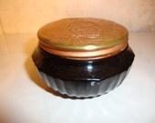 Vintage Black Glass Jar Squibb Cold Cream Jar Antique