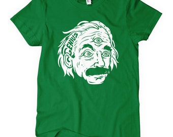 Women's Genius T-shirt - S M L XL 2x - Ladies' Einstein Tee, Math, Relativity - 4 Colors