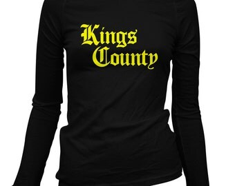 Women's Kings County Gothic Brooklyn Long Sleeve Tee - S M L XL 2x - Ladies' Brooklyn T-shirt, NYC, New York City - 3 Colors
