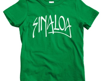 Kids Sinaloa Handstyle T-shirt - Baby, Toddler, and Youth Sizes - Sinaloa Tee, Mexico, Mexican, Culiacan, Mazatlan, Los Mochis - 4 Colors