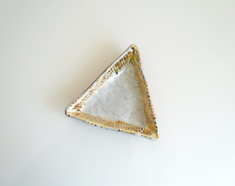 White + Gold Dash Triangle Tray (Made To Order)