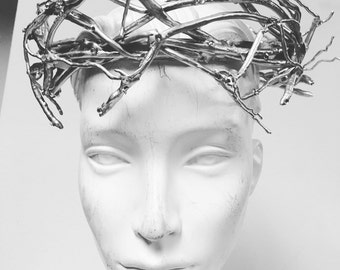 Silver Rose thorn crown