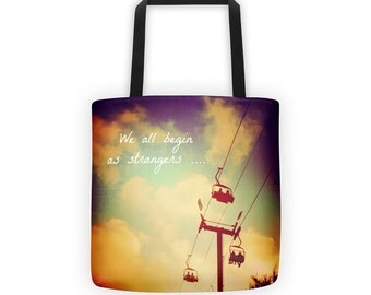 Inspirational Quote Tote for Eco Shopping and School and Sundry