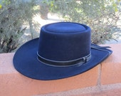 Stetson Black Billy The Kidd Cowboy Hat with Chin Strap