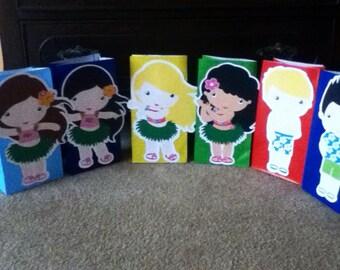Cute Luau goody Bags