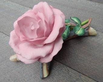 Bisque Porcelain Queen Elizabeth Rose 1981 Royal Horticultural Society, Sculpted by British Artist Ronald Van Ruyckevelt