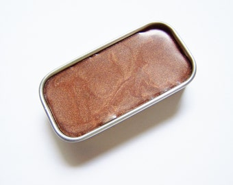 Zero Waste Vegan Lipstick - Golden Brown Mineral Lip Color - Lipstick In A Tin - Vegan Mineral Makeup -  Cruelty Free Cosmetics