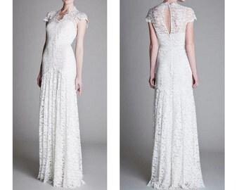 Lace WEDDING DRESS bridal gown Mermaid Boho wedding A line
